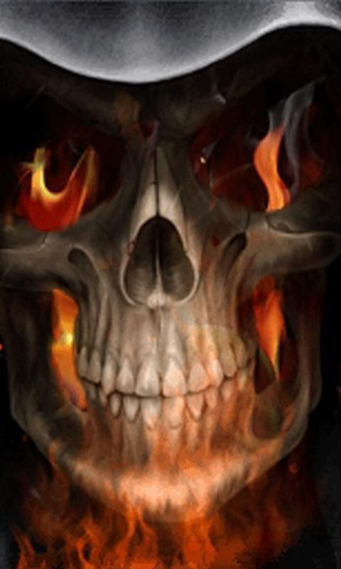 wallpaper Download Terrorist Skull live wallpaper 10 Android
