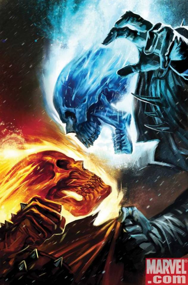 blue rider vs red rider   The Ghost Rider Fan Art 36470558 632x960