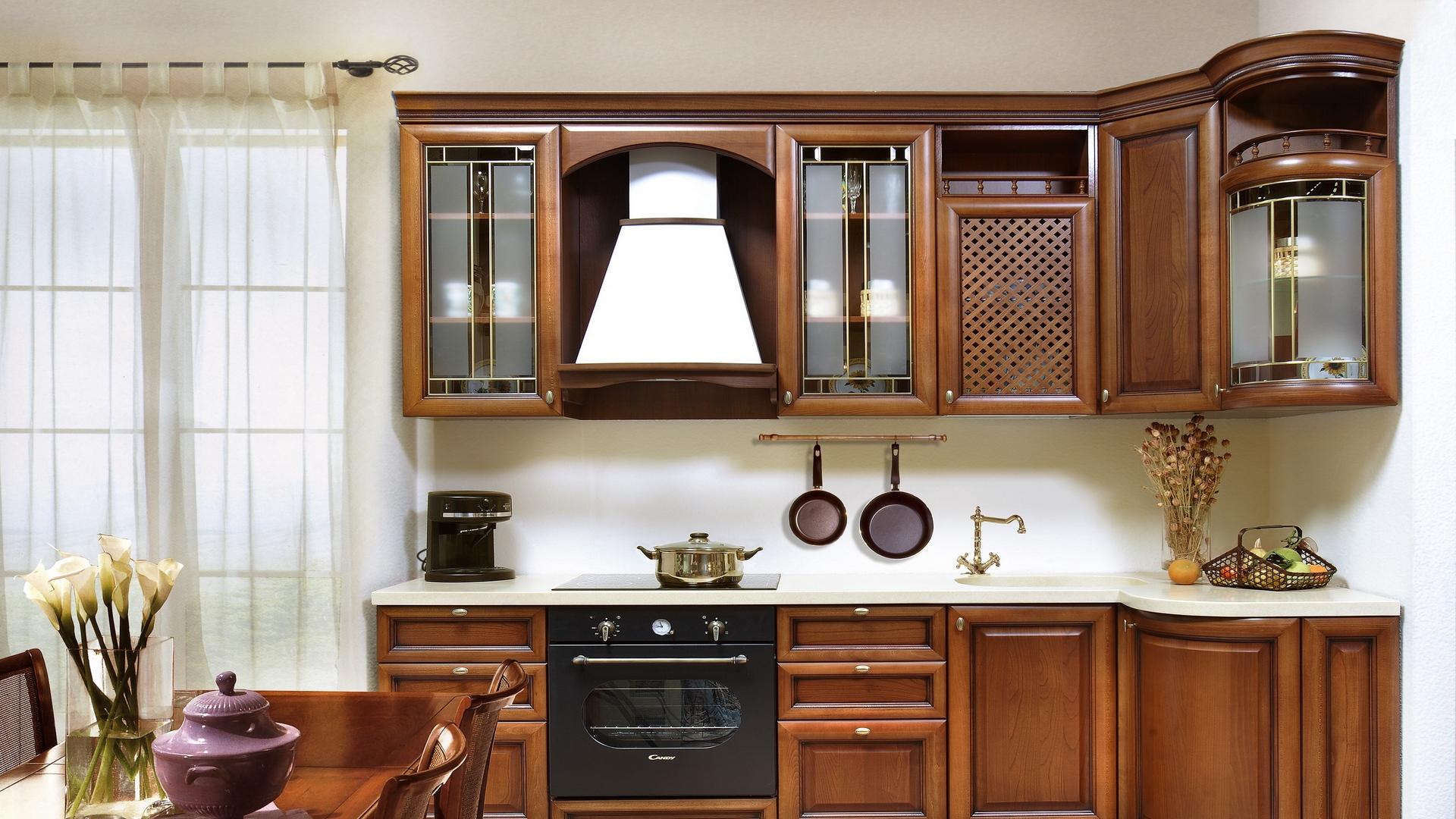 Wallpaper Kitchen Furniture Interior Design   Kitchen Wardrobe 1920x1080