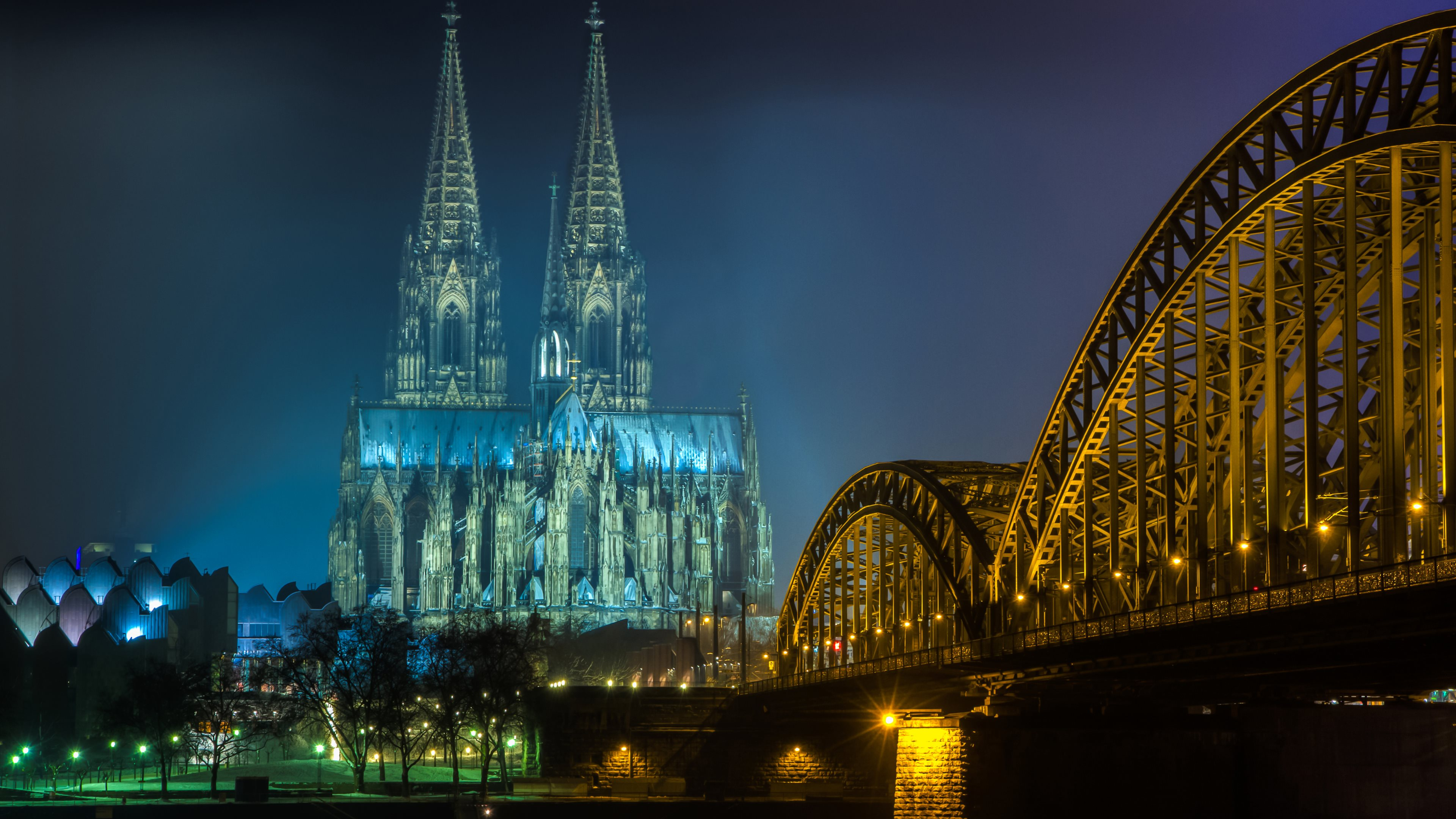 Cologne Cathedral 4k Ultra HD Wallpaper Background Image 3840x2160