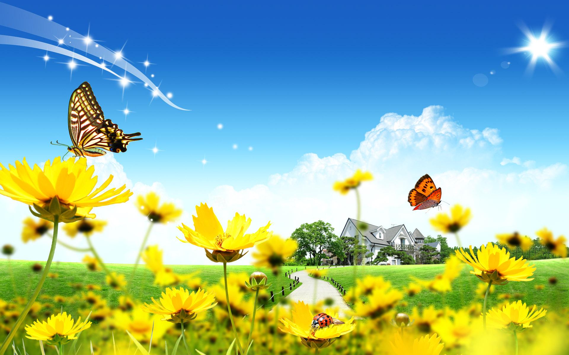 HD Wallpapers summer fantasy landscape for desktop wallpaper 1920x1200