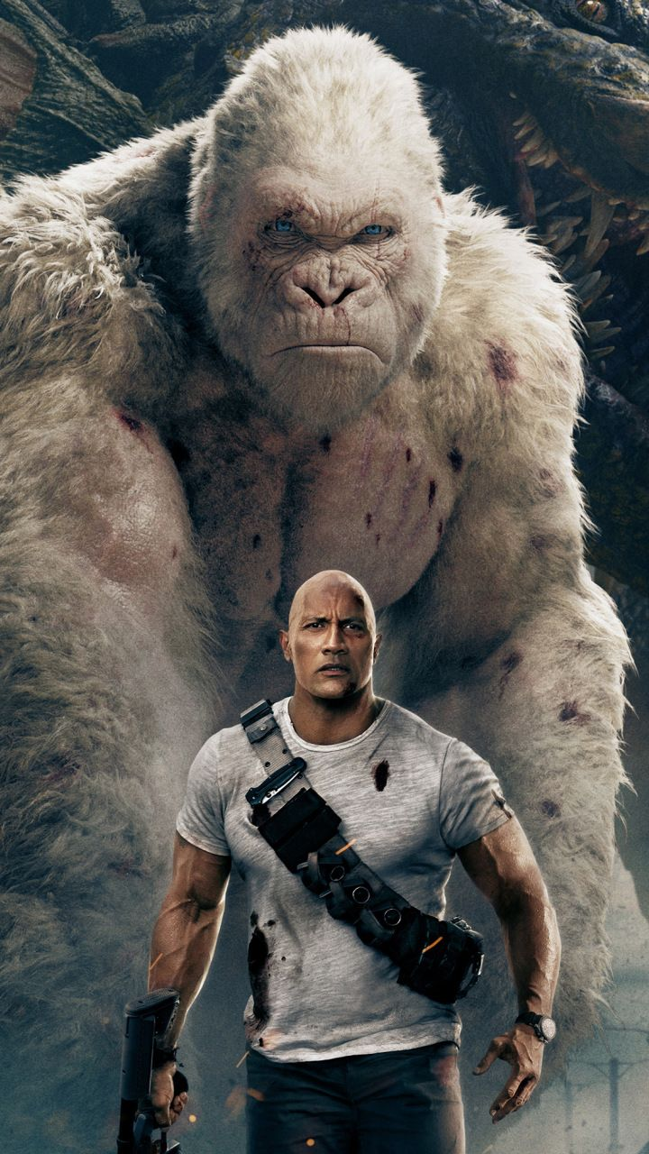 Rampage movie wolf gorilla 4k 720x1280 wallpaper Movie 720x1280