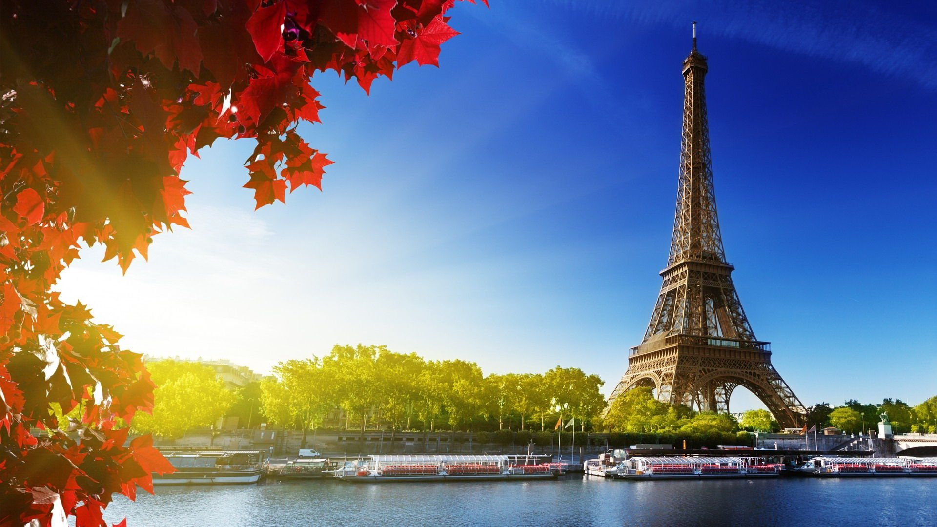Eiffel Tower Paris France Autumn Wallpaper is a hi res Wallpaper 1920x1080