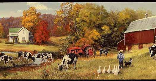 Wallpaper By Topics Country Farm Scenes   Wallpaper Border 525x273