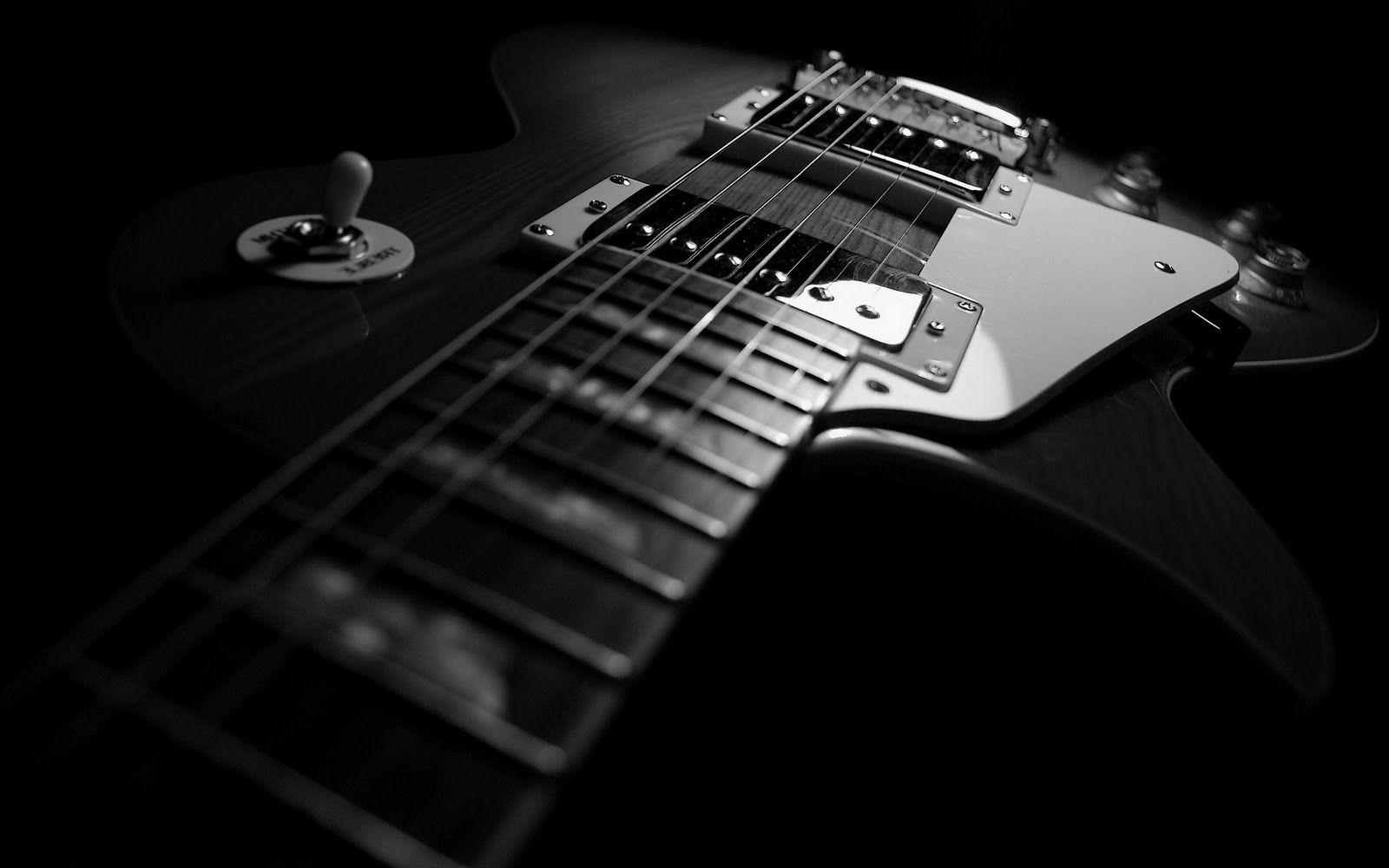 Guitar Black Backgrounds 1600x1000