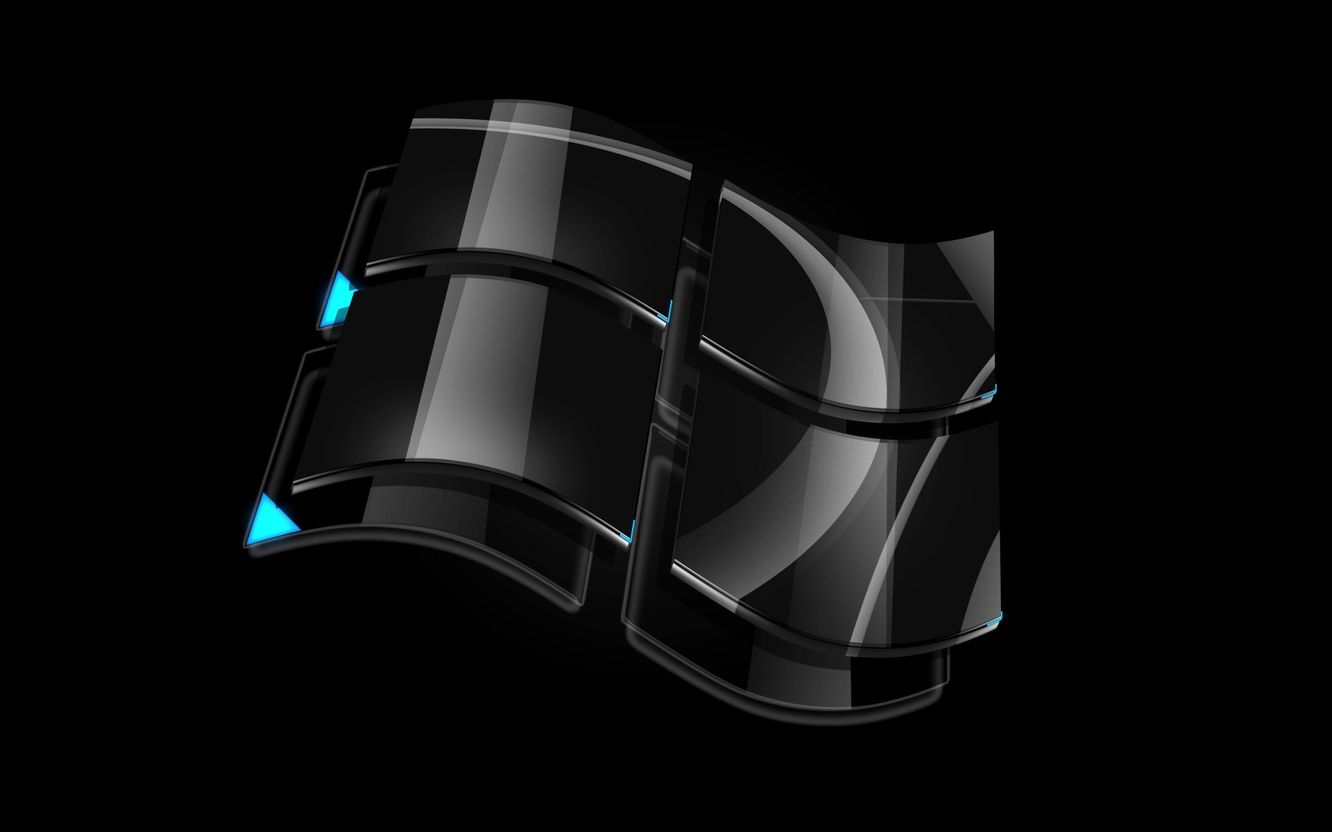 Windows Dark Glass Logo Wallpapers HD Wallpapers 1920x1200