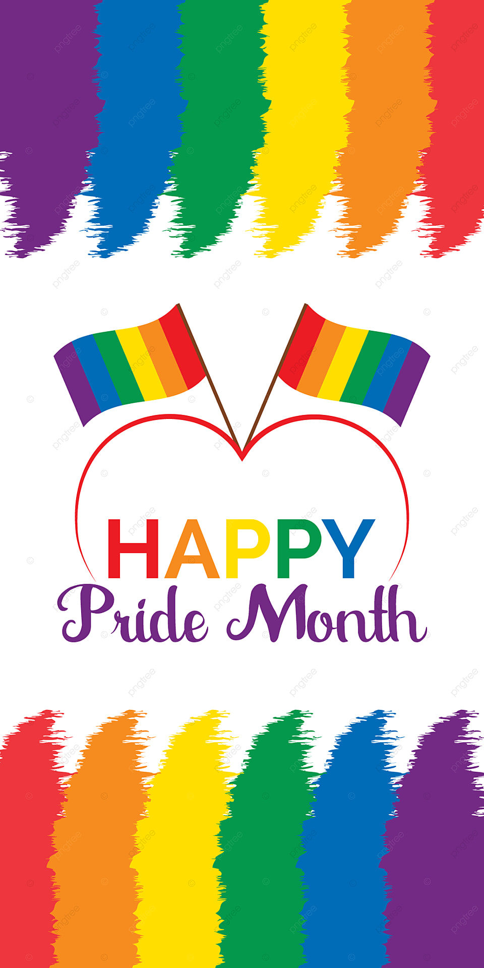 Happy Pride Month Mobile Wallpaper Background Vector Design 960x1920