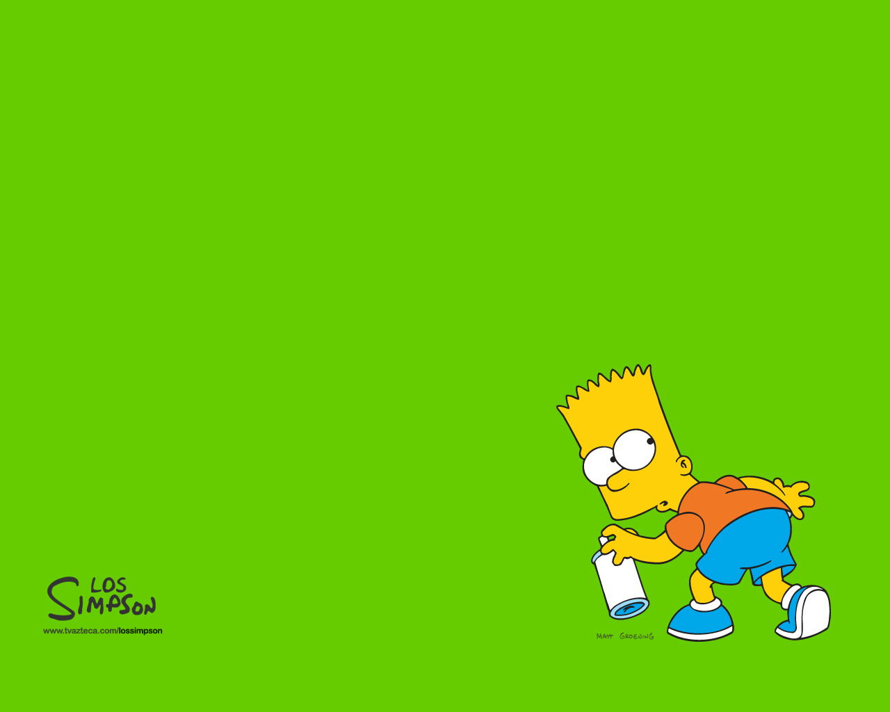 Download wallpaper Bart Simpson Simpsons wallpapers wallpapers for 1280x1024