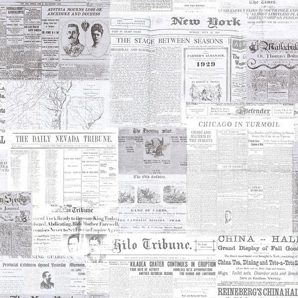 Gazette Grey Vintage Newsprint 2604 21266 Wallpaper Warehouse 600x600