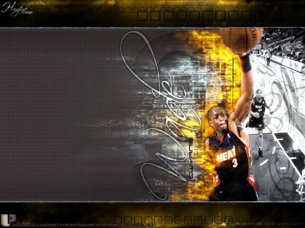 Dwyane Wade Burning Dunk Wallpaper   Miami Heat Wallpaper 1024x768