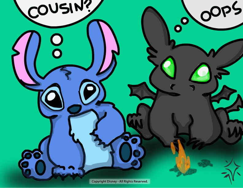 Toothless and Stitch by little space ace 792x612