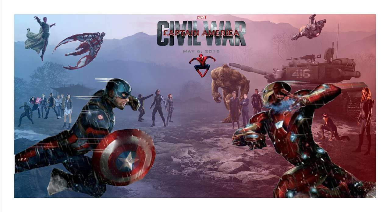 Captain America Civil War by Justiceavenger 1280x697