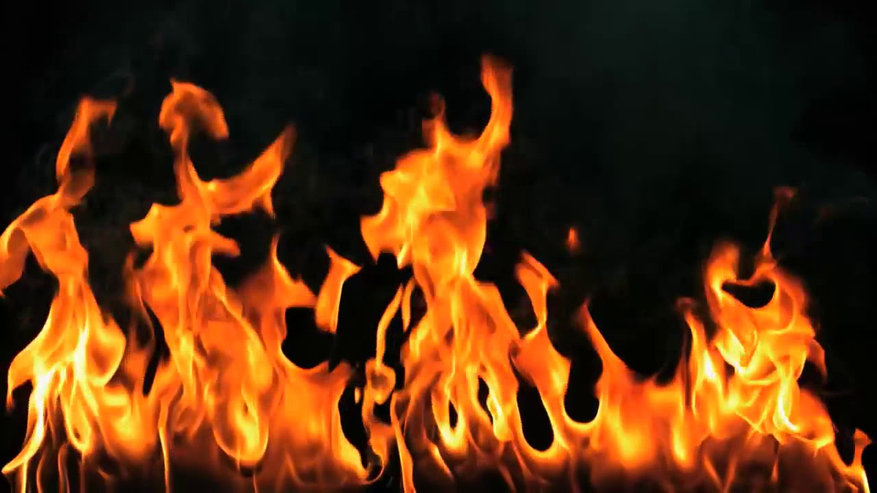 Fire background with sound 1280x720