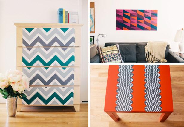 Dorm Decor Removable Wallpaper HGTV Design Blog Design Happens 616x428