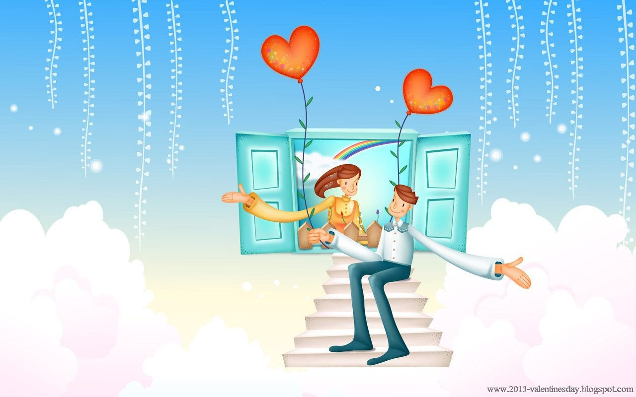 hd wallpapers 1080px cute and sweet cartoon couple hd wallpapers 1280x800
