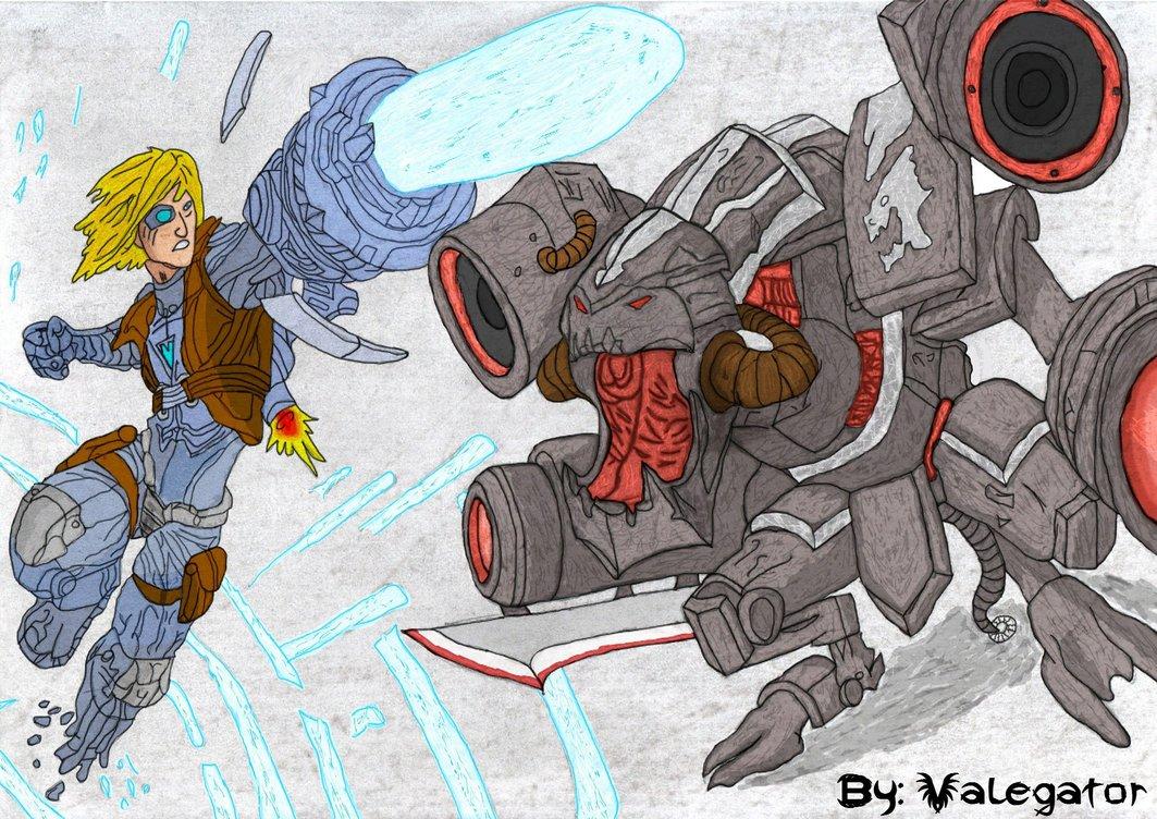 Pulsefire Ezreal vs Battlecast Prime ChoGath by Valegator on 1063x752