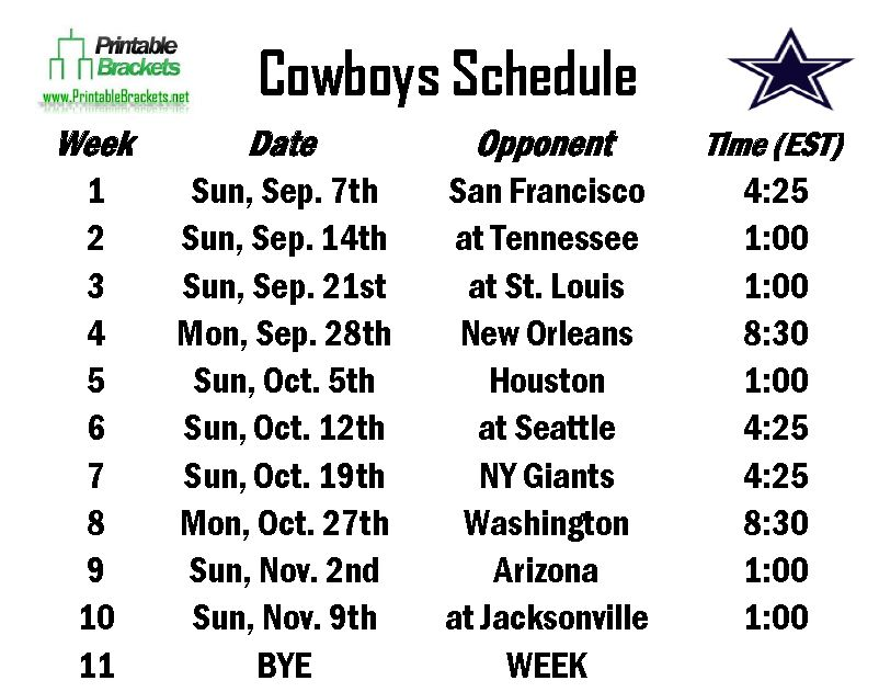 Dallas Cowboys 2015 2016 Schedule Accounting Books 802x631