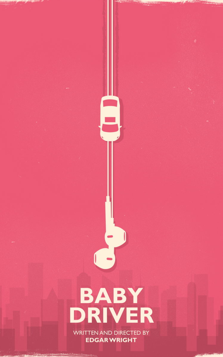 Edgar Wright Movies Baby Driver Minimalism Car Wallpapers HD 748x1197