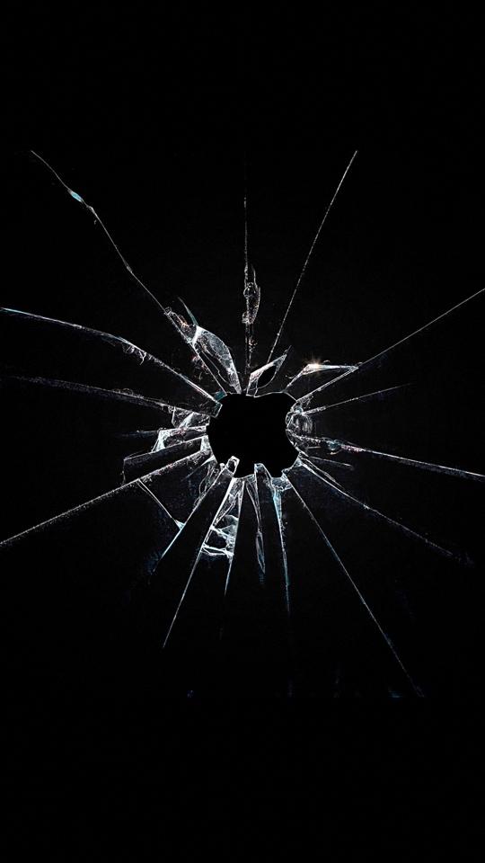 HD 540x960 broken glass nokia phone wallpapers 540x960