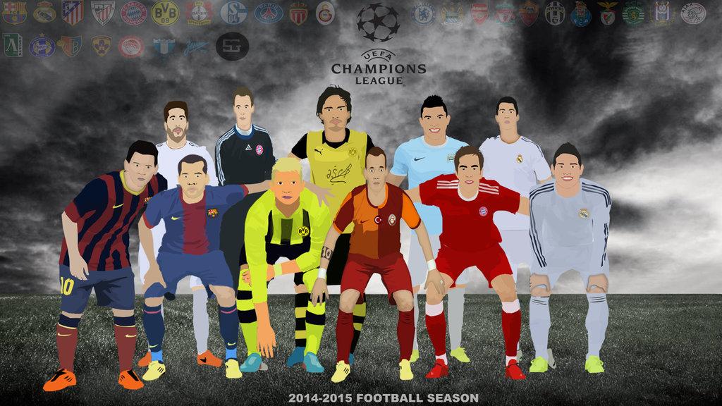 UEFA Champions League 2014 15 cartoon wallpaper 1024x576