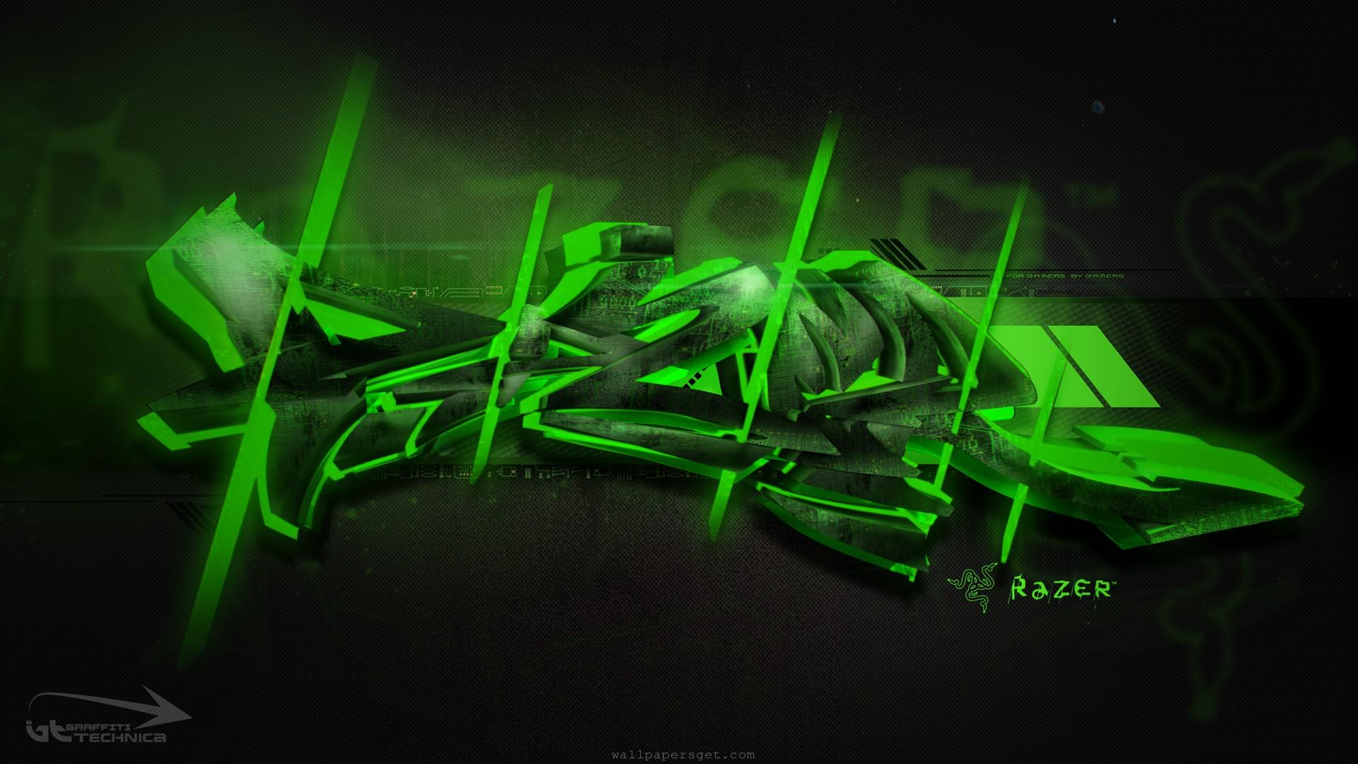 graffiti razer wallpaper overclocking abstract computers 1920x1080