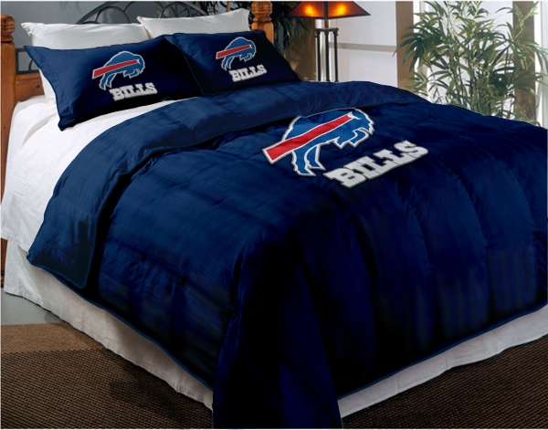 Buffalo Bills NFL Twin Chenille Embroidered Comforter Set with 2 Shams 600x471