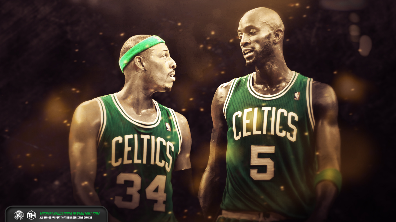 Paul Pierce Kevin Garnett Boston Celtics wallpaper by 1366x768