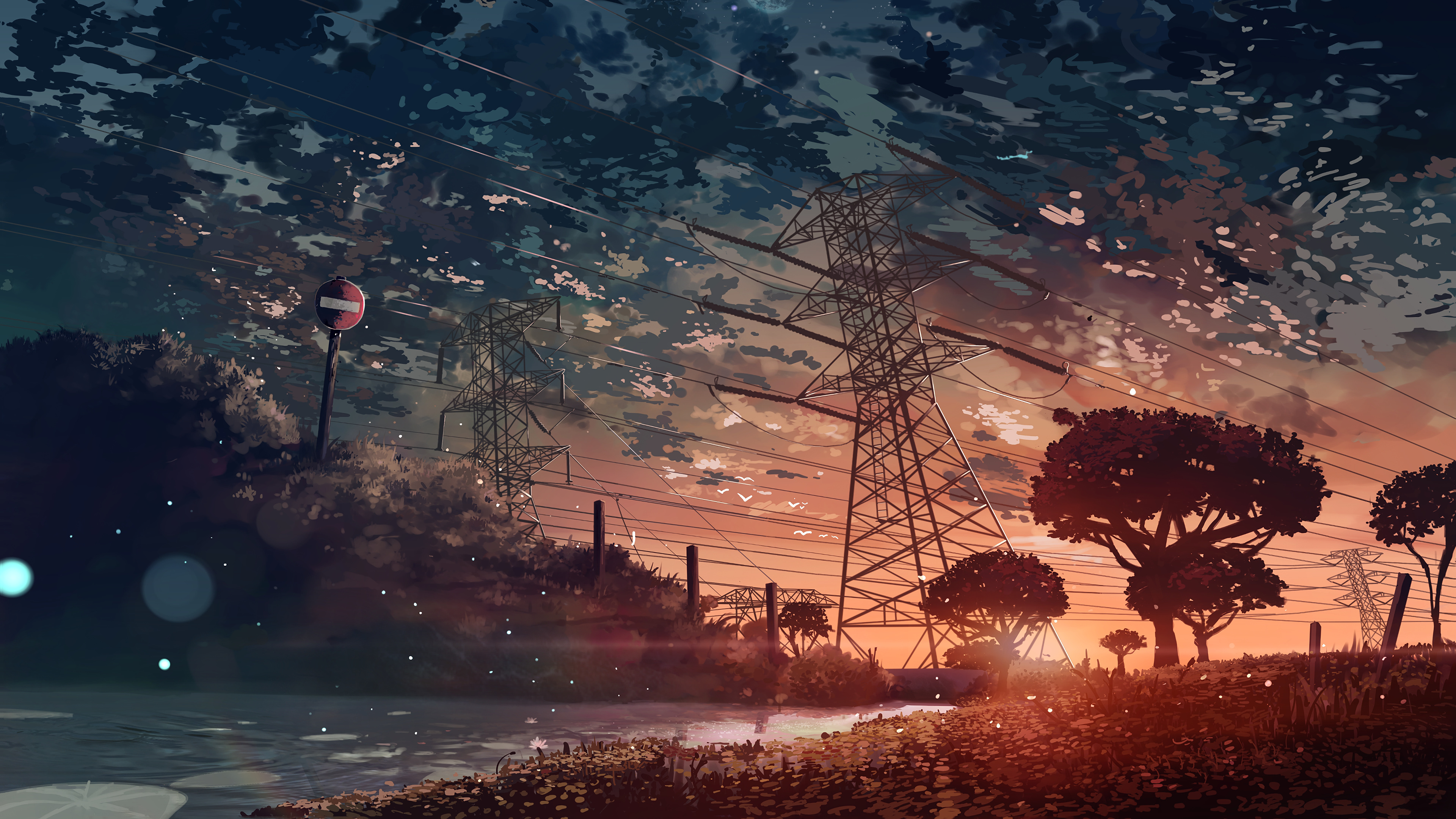 Anime Landscape Resolution Hd 4k Wallpapers Images   Anime 3840x2160