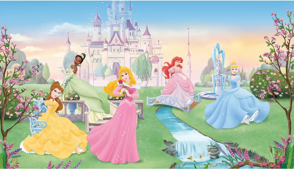 Disney Dancing Princesses Large Prepasted Accent Wall Mural 1000x574