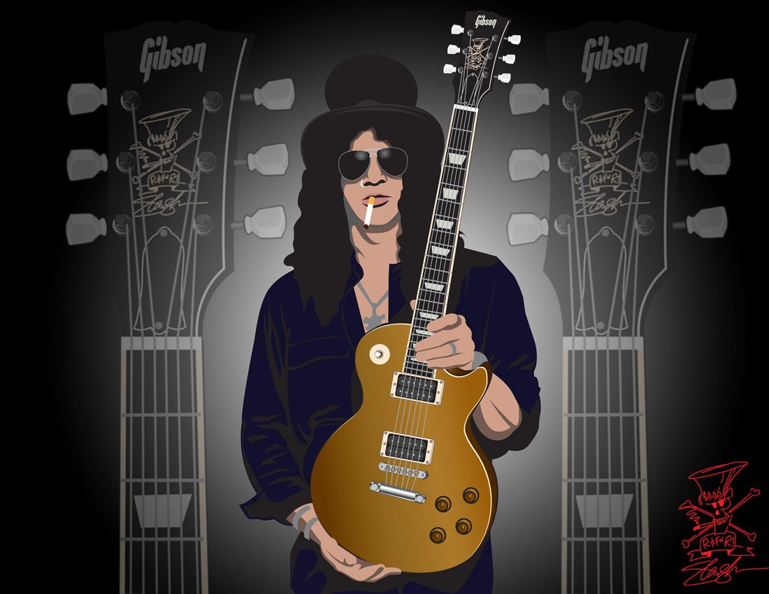 76 Slash Guitar Wallpaper On Wallpapersafari