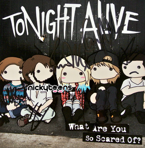 Tonight Alive   What Are You So Scared of by NickyToons 500x511