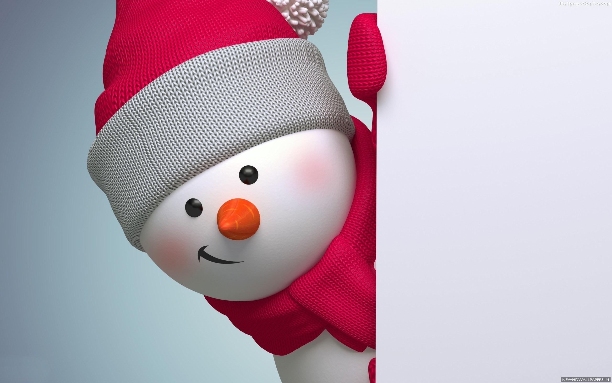 Cute Merry Christmas Snowmen Wallpaper   New HD Wallpapers 2560x1600