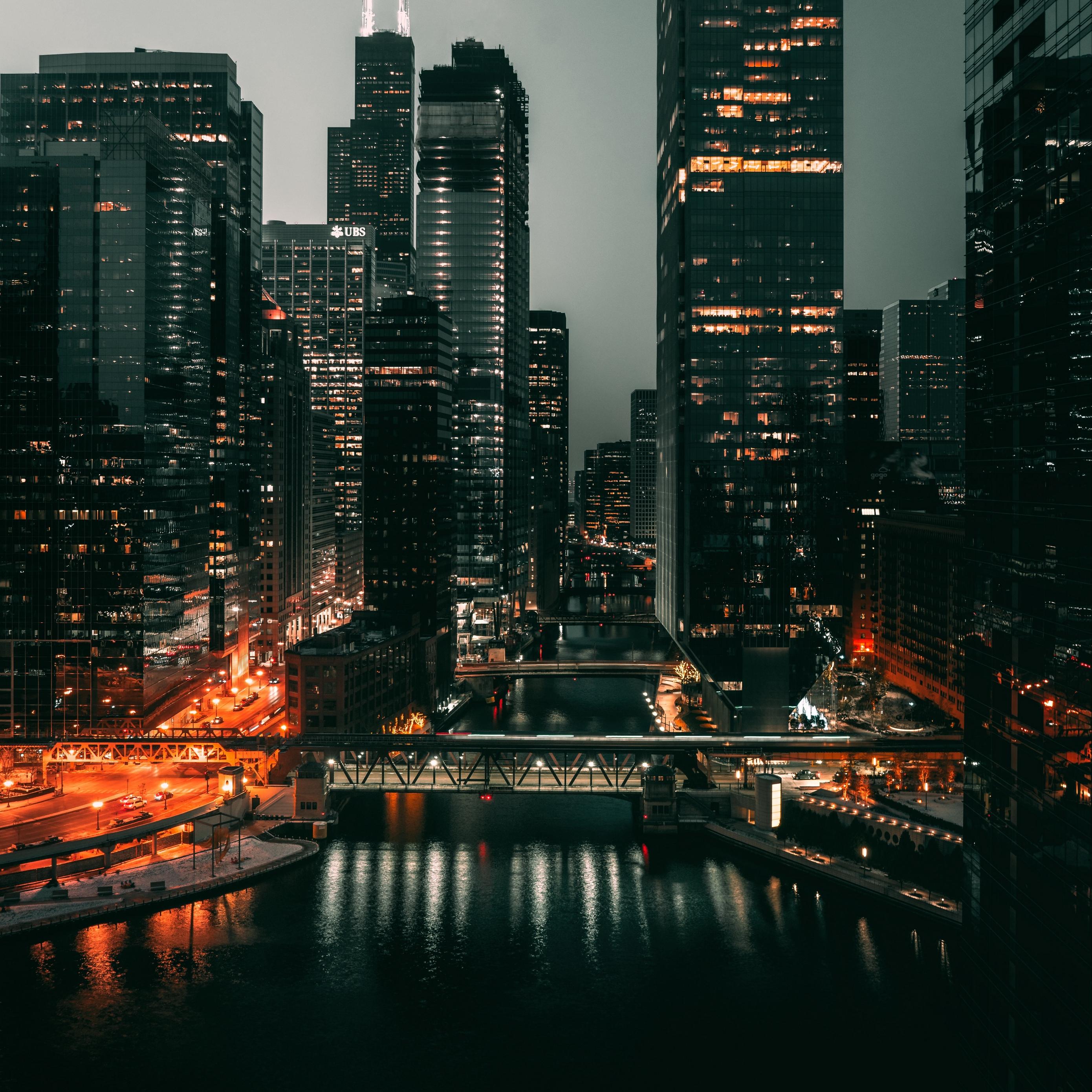 Download wallpaper 2780x2780 city metropolis aerial view 2780x2780