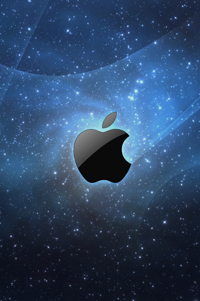 Galaxy Apple Logo   iPhone Wallpaper 640x960