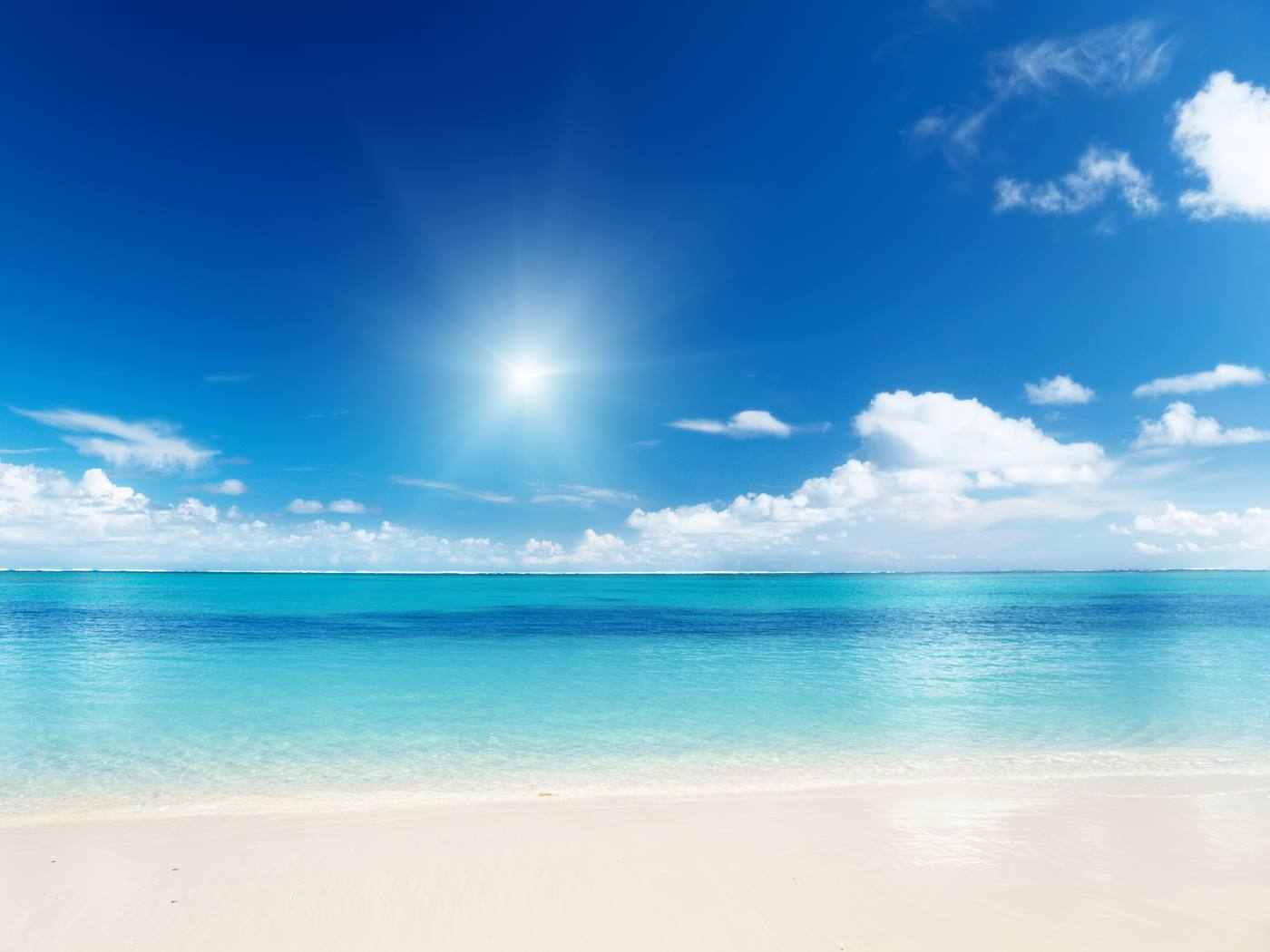 Group of Beach of the Caribbean Sea   NATURE WALLPAPER We Heart It 1400x1050