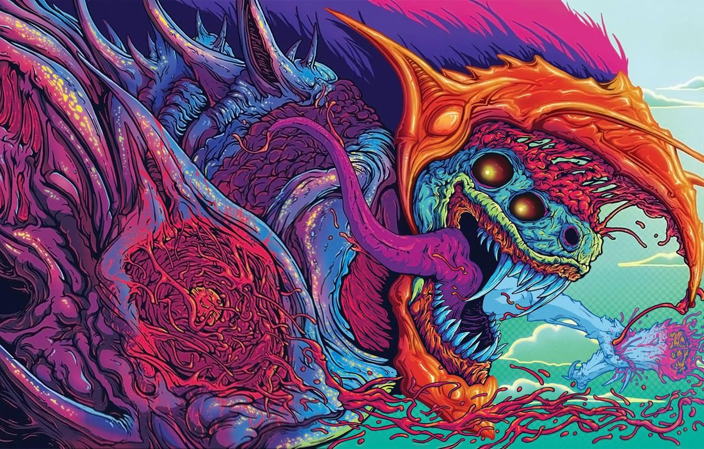 Wallpaper figure art beast killer Hyper Beast images for 1332x850