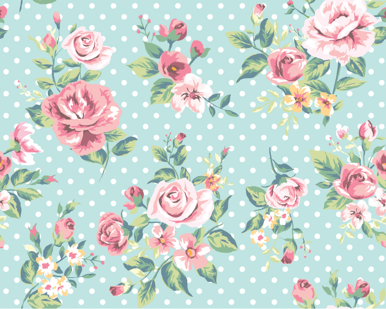 Rose Pattern Background Vector Graphic Download 766x613