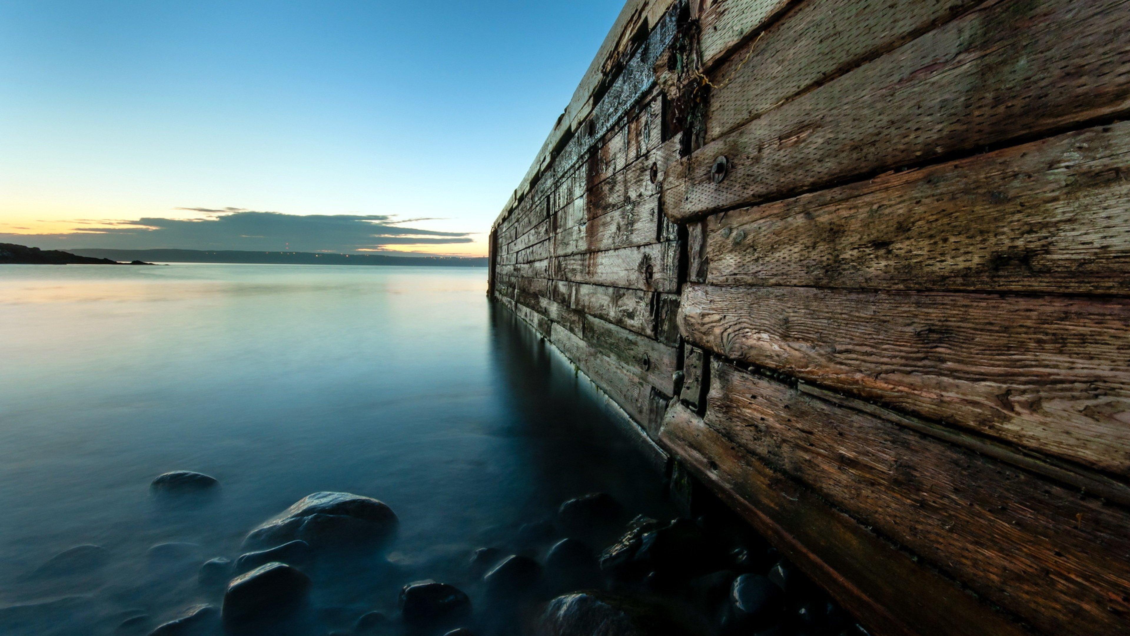 Download Wallpaper 3840x2160 Night Lake Bridge Landscape 4K Ultra 3840x2160