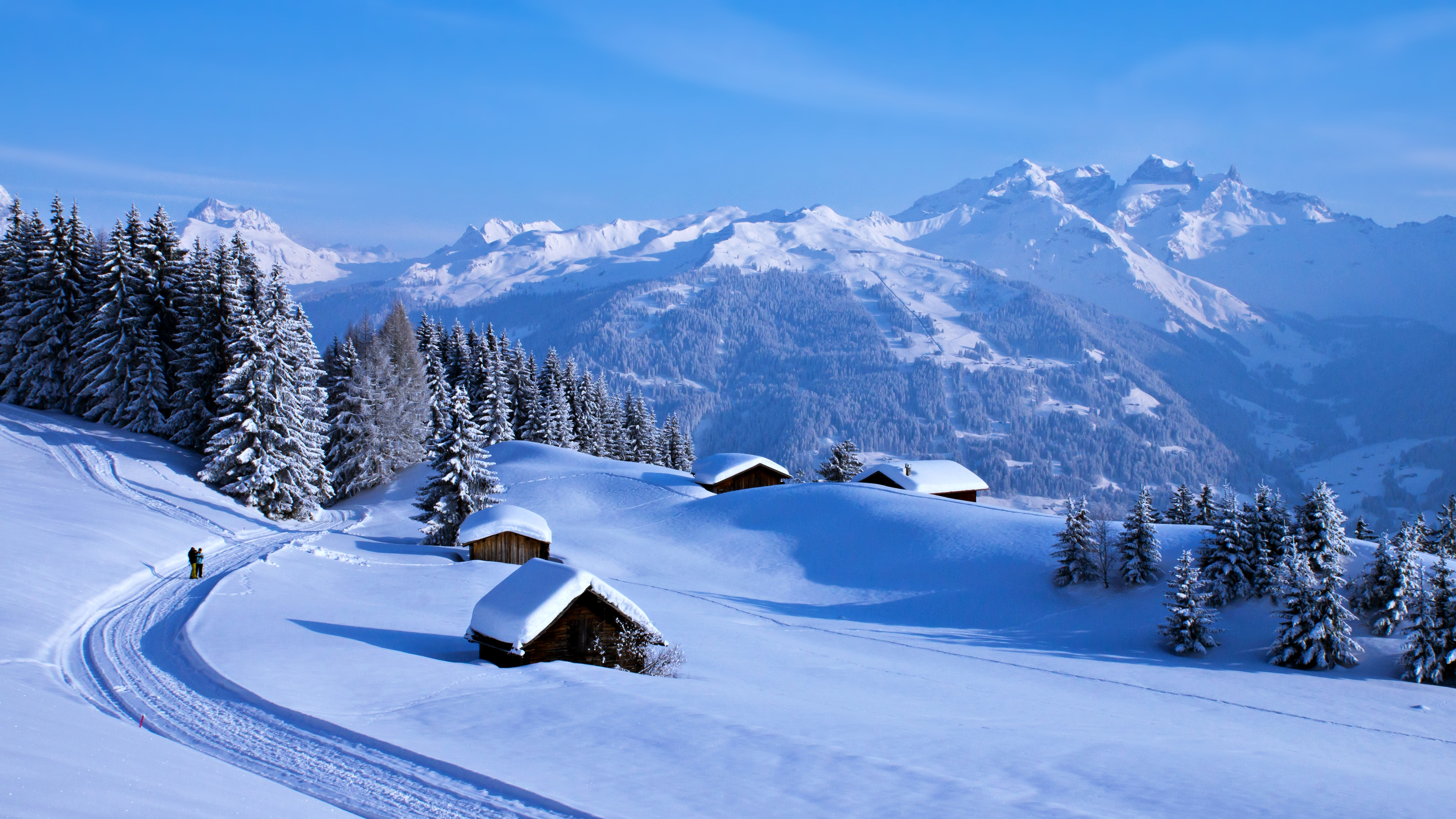 деревня зима горы  № 3188432 загрузить