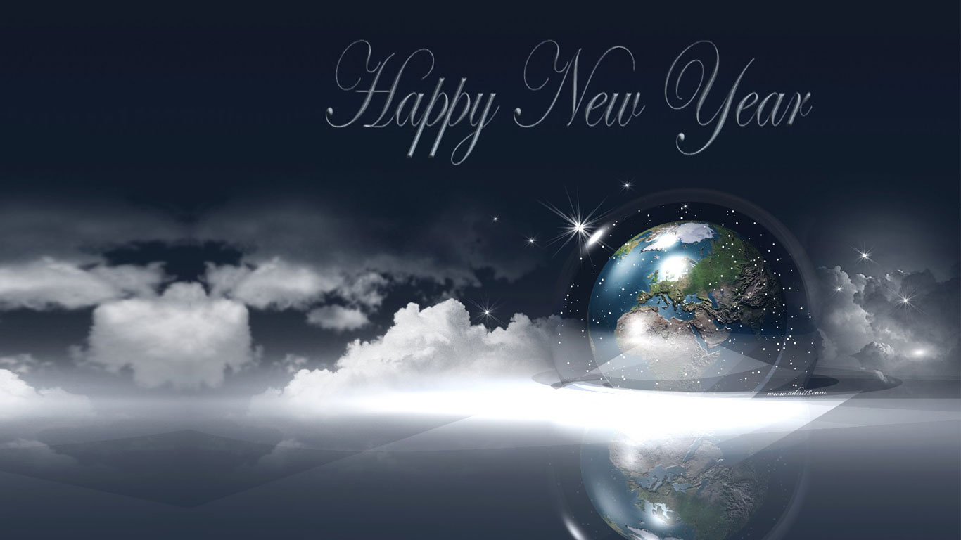 Happy New Year Wishes Wallpapers 2016 1366x768