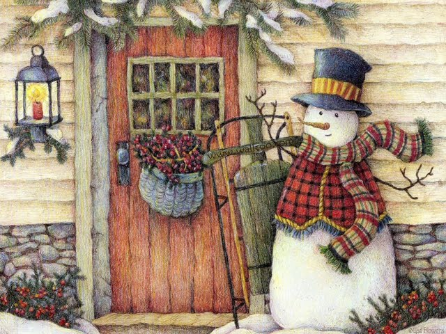 cute country snowman wallpaper - photo #15
