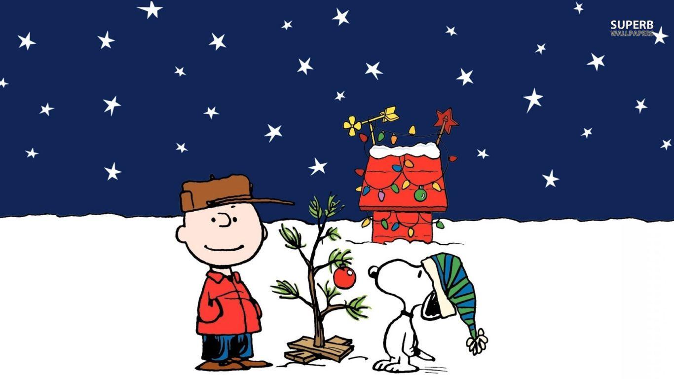 Charlie Brown Christmas wallpaper   Cartoon wallpapers 1366x768