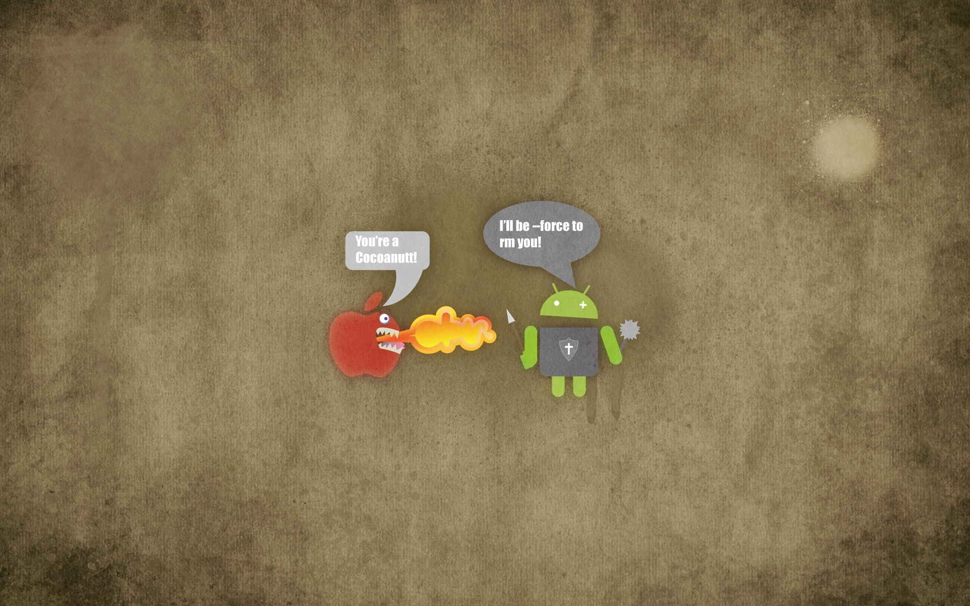 Pics Photos   Hd Funny Apple Vs Android Wallpapers Description 1920x1200