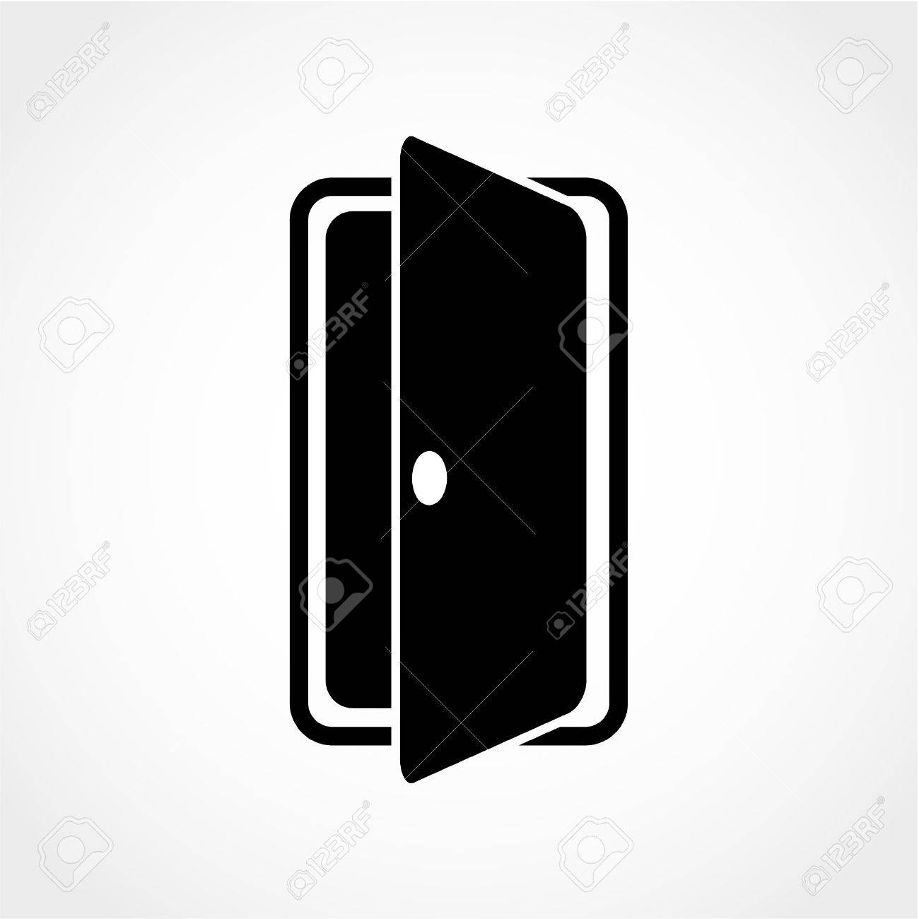 Enter Or Exit Symbol Internal Door Door Sign Icon Isolated 1300x1300