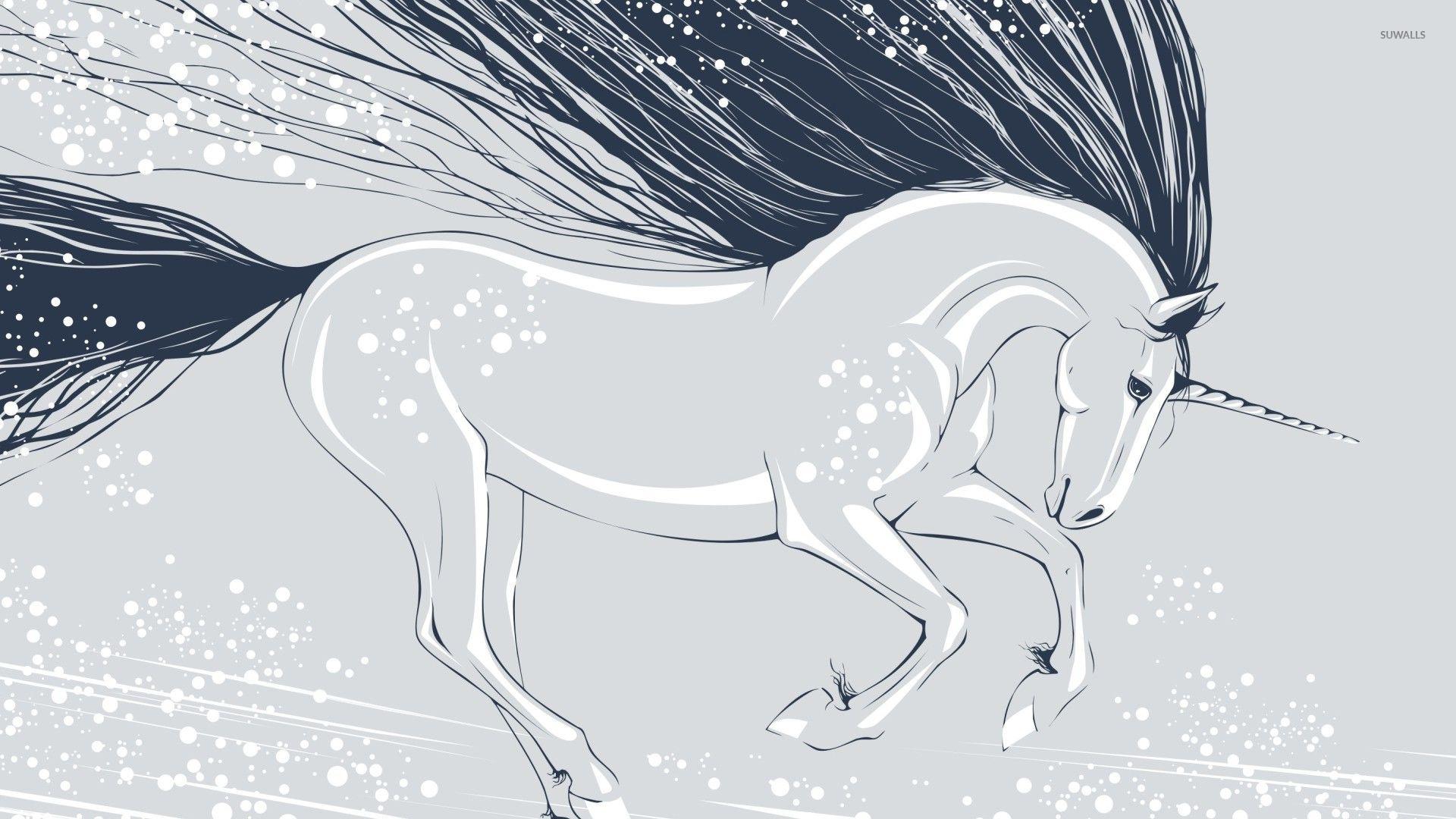 Unicorn wallpaper   Vector wallpapers   22074 1366x768