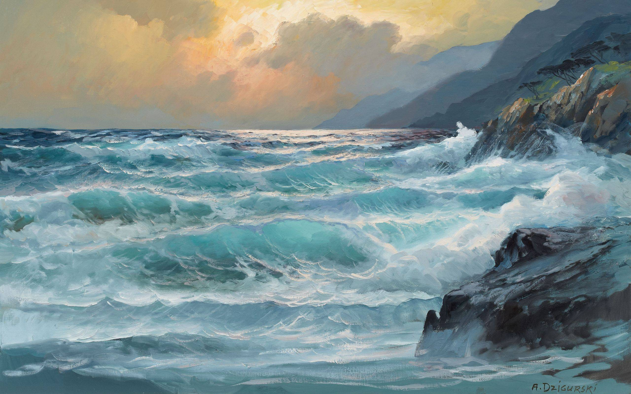 Paintings Ocean 25601600 Wallpaper 1682888 2560x1600