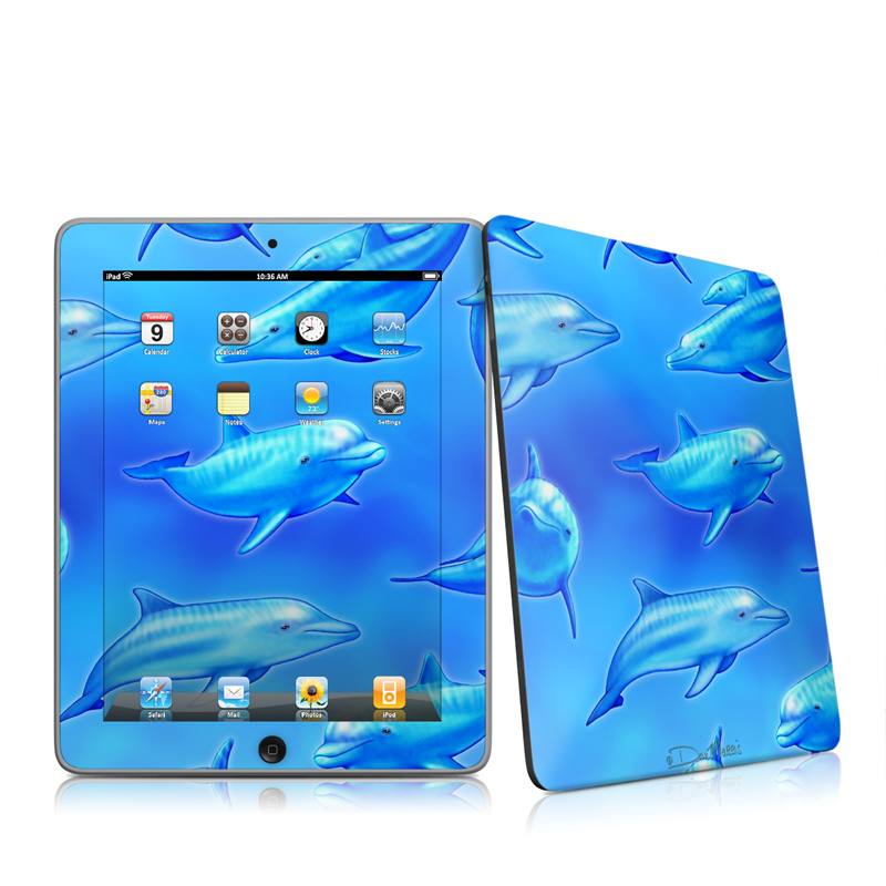 iPad iPad 2010 1st Gen Swimming Dolphins Apple iPad 1st Gen Skin 800x800