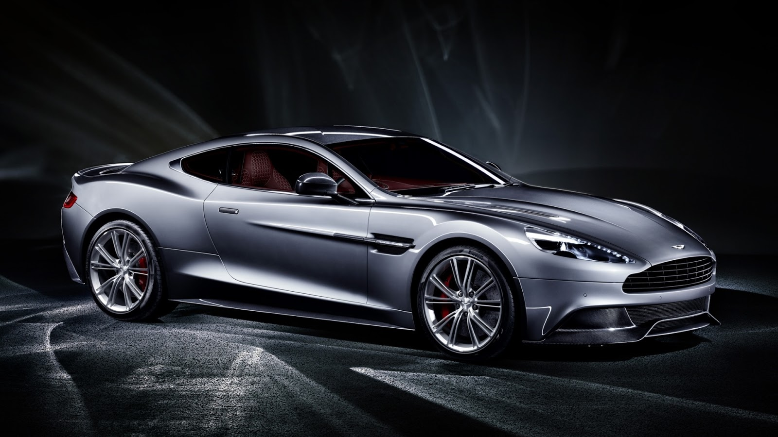 Aston Martin Vanquish Silver Full HD Desktop Wallpapers 1080p 1600x900