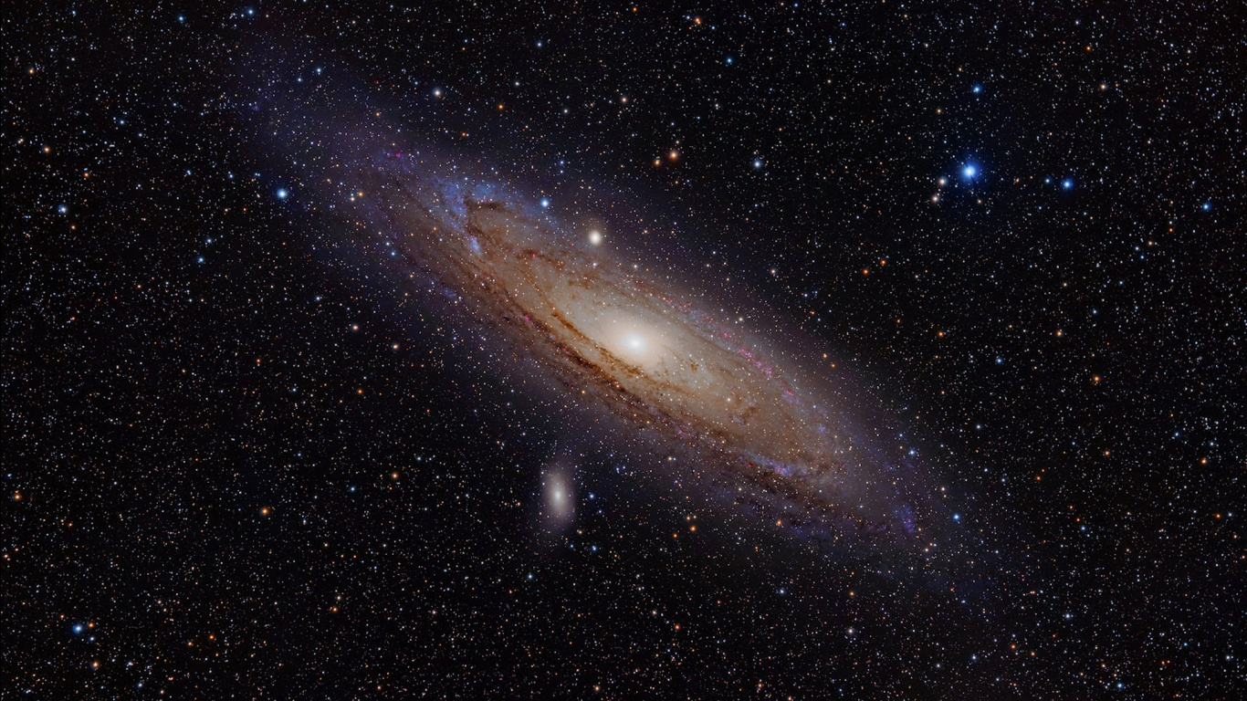 Pin Andromeda Galaxy Wallpaper 1366x768 1366x768