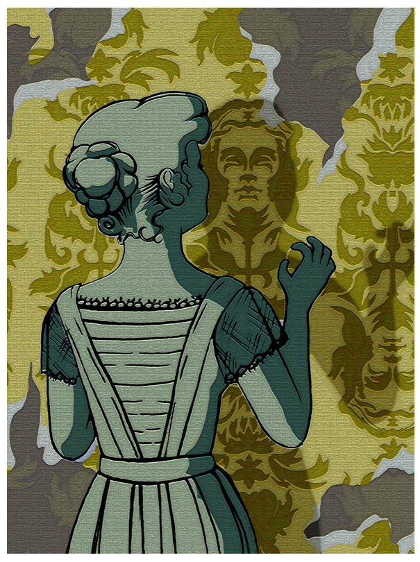 The Yellow Wallpaper by Charlotte Perkins Gilman 605x810